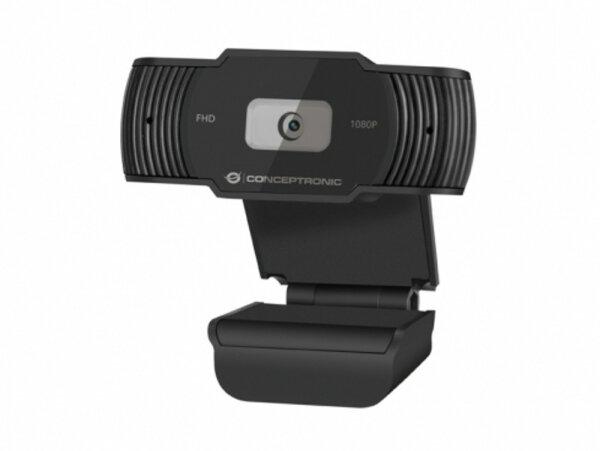 Conceptronic AMDIS 1080P FullHD Webcam mit Mikrofon