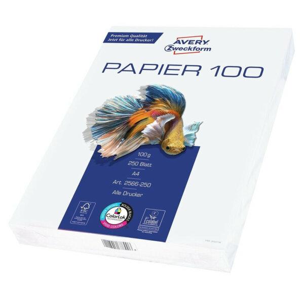 Avery Zweckform 2566-250 Druckerpapier A4 (210x297 mm) 250 Blätter Weiß