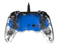NACON PS4OFCPADCLBLUE Spiele-Controller Gamepad PlayStation 4 Blau, Transparent