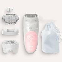 Braun Silk-épil 5 Silk-epil 5-620 Wet & Dry 28 Pinzette Pink, Weiß