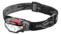 Ansmann HD70B Schwarz Stirnband-Taschenlampe LED