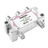Hama SAT-Verteiler, 4 Way, Fully Shielded F-Couling 4 x...