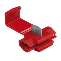 Hama Clamping Connector, red, 5 pieces Kabelklammer Rot 5...