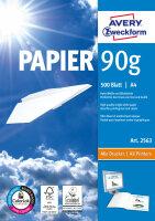 Avery Zweckform Format Papier A4 90 g/m² 500 Sheets...