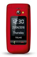 TELME X200 6,1 cm (2.4 Zoll) 90 g Rot Einsteigertelefon
