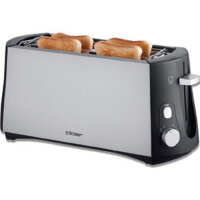 Cloer 3710 Toaster 4 Scheibe(n) Schwarz, Gebürsteter...