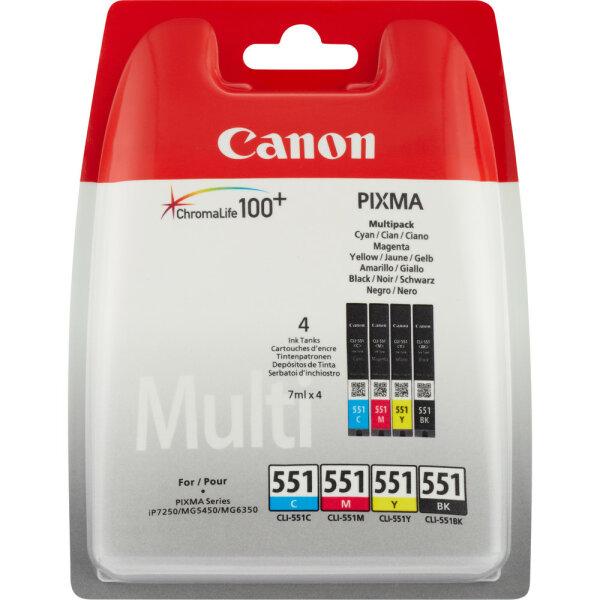 Canon CLI-551 C/M/Y/BK w/o sec Original Schwarz, Cyan, Magenta, Gelb Mehrfachverpackung 4 Stück(e)