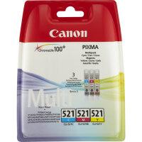 Canon CLI-521 C/M/Y Original Cyan, Magenta, Gelb 3...