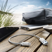 Hama 178282 USB Kabel 0,2 m Micro-USB A USB A Weiß