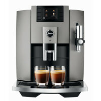 JURA E8 Dark Inox (EB) Kaffeevollautomat (OneTouch,...