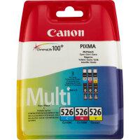 Canon CLI-526 C/M/Y Original Cyan, Magenta, Gelb 3...