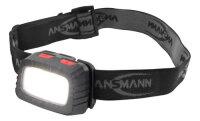 Ansmann HD200B Stirnband-Taschenlampe Schwarz, Grau LED
