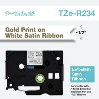 Brother TZE-R234 Etiketten erstellendes Band Gold auf...