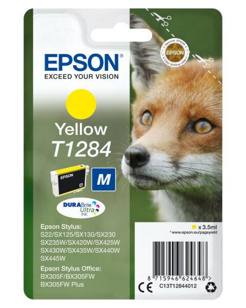 Epson Singlepack Yellow T1284 DURABrite Ultra Ink