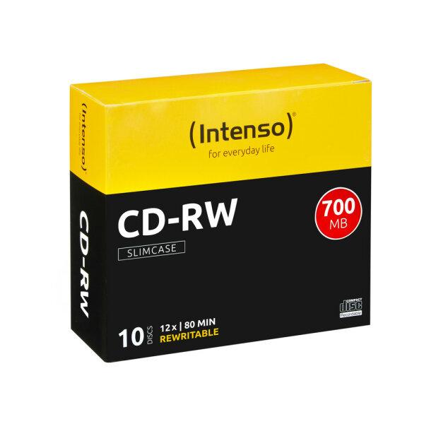 Intenso CD-RW 700MB / 80min, 12x 10 Stück(e)