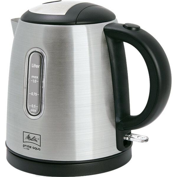 Melitta Prime Aqua mini Top Wasserkocher 1 l Schwarz, Edelstahl 2200 W