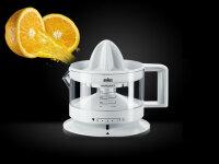 Braun TributeCollection CJ 3000 Elektrische Zitronenpresse Transparent, Weiß 0,35 l 20 W