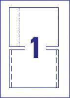 Avery Zweckform C32250-25 Druckeretikett Weiß CD