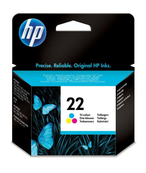 HP 22 Original Cyan, Magenta, Gelb 1 Stück(e)