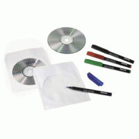 Hama CD Paper Sleeves, white, 50 pcs/Pack 1 Disks Weiß