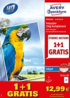 Avery Zweckform 2556-15P Fotopapier Weiß Hoch-Glanz A4