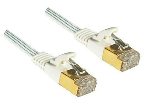 DINIC C6-F2 Netzwerkkabel 2 m Cat6 S/UTP (STP) Weiß
