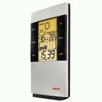 Hama TH-200 LCD-Thermo-Hygro-Meter Schwarz, Silber Batterie/Akku