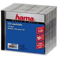 Hama CD-Leerhülle Jewel Case Standard, Pack 10 1...