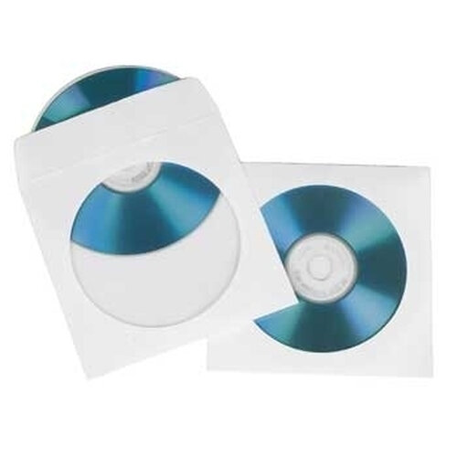 Hama CD/DVD Paper Protection Sleeves, white, pack of 25 1 Disks Weiß