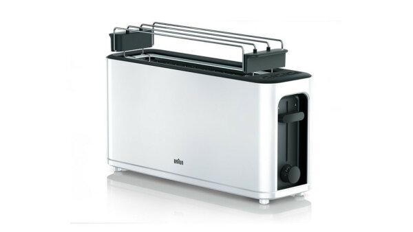 DeLonghi PurEase HT 3110 WH Toaster Schwarz, Weiß 1000 W