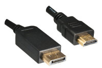 DINIC 2m DisplayPort/HDMI Schwarz