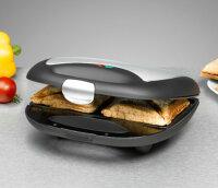 Rommelsbacher ST 710 Sandwich-Toaster 700 W Schwarz, Silber