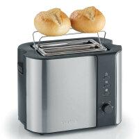 Severin AT 2589 Toaster 2 Scheibe(n) Schwarz, Edelstahl...