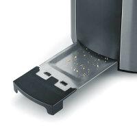 Severin AT 2589 Toaster 2 Scheibe(n) Schwarz, Edelstahl 800 W
