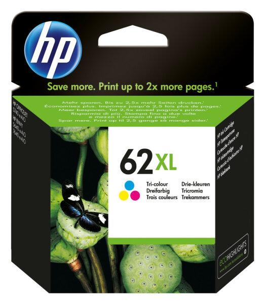 HP 62XL Original Cyan, Magenta, Gelb
