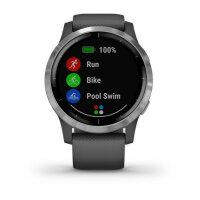 Garmin vívoactive 4 Smartwatch Silber 3,3 cm (1.3 Zoll) GPS