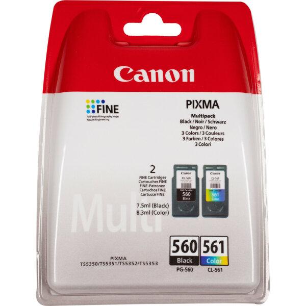 Canon 3713C006 Druckerpatrone Original Schwarz, Cyan, Magenta, Gelb Mehrfachverpackung 2 Stück(e)