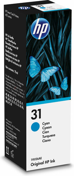 HP 31 70-ml Cyan Original Ink Bottle