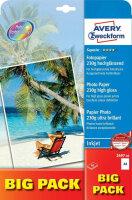 Avery 2497-40 Fotopapier Hoch-Glanz A4