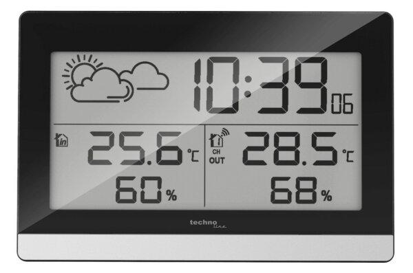 Technoline WS 9255 Digitale Wetterstation Schwarz, Silber