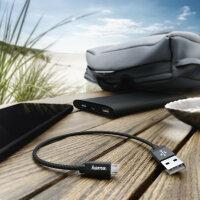 Hama 178279 USB Kabel 0,2 m 2.0 Micro-USB A USB A Schwarz
