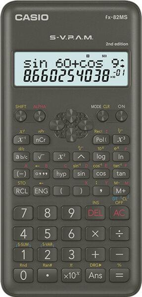 Casio FX-82MS-2 Taschenrechner Tasche Wissenschaftlicher Taschenrechner Schwarz