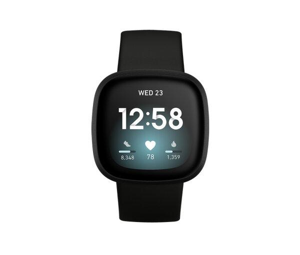 Fitbit Versa 3 AMOLED Schwarz GPS