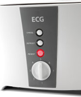 ECG ST 818 Toaster 2 Scheibe(n) Grau, Edelstahl 800 W